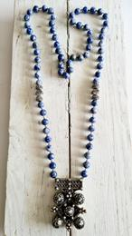 Collar lapis cruz  | 833 | Bohemian Barcelona, freespirit, lifestyle.